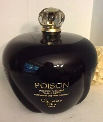 Vintage Christian Dior Paris Poison Dusting Powder 7 Oz. Used