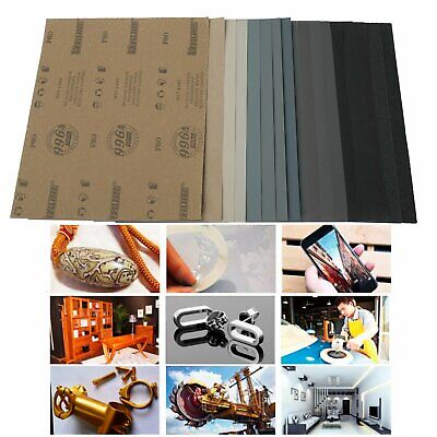"SANDING SHEETS Wet/Dry Silicon Carbide Waterproof Sandpaper Grits 9x11"" USA"
