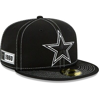 Dallas Cowboys 2019 NFL Sideline Road Official 59FIFTY Fitted Hat –Black