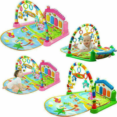Baby Light Musical Gym Play Mat Lay & Play Fitness Fun Piano Boy Girl 3 in 1