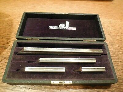 Brown & Sharpe 4 Piece Straight Edge Knife Set No.530 with Case