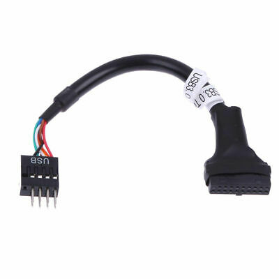 20 Pin USB 3.0 Male To 9 Pin USB 2.0 Female Motherboard Header Adapter-Cord NEW