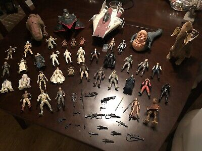 Star Wars toy lot Kenner Figures Ships Guns