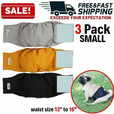 Male Dog Belly Bands Small Washable Pet Puppy Waist Wrap Diapers Absorbent Pad