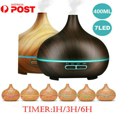Air Humidifier Purifier Essential Oil Diffuser Aroma Aromatherapy Lamp LED 400ML