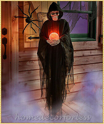 HALLOWEEN Life Size Psychic REAPER Haunted House Prop Decoration Crystal Ball