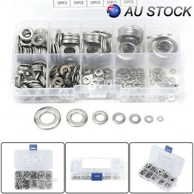 360PCS M2 TO M10 Stainless Steel Flat & Spring Washers