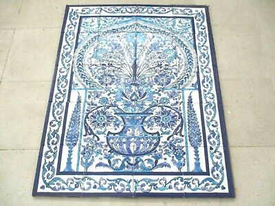 "Ceramic tile art Mosaic wall mural Arabesque Antique floral BACKSPLAH  24"" x 30"""