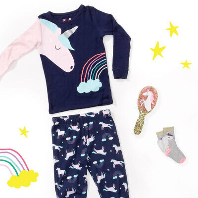 Toddler Kids Baby Girl Unicorn Long Sleeve Tops T shirt Pants Outfit Set Clothes