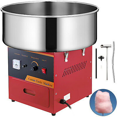 "Cotton Candy Machine 21"" Quick Buckles Stainless Steel Bowl Floss Maker"