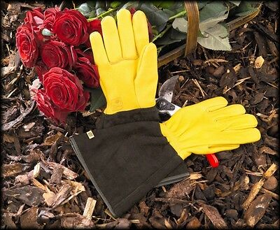 Gold Leaf Tough Touch Gardening Gloves LADIES FIT Gauntlet Gardening Gloves