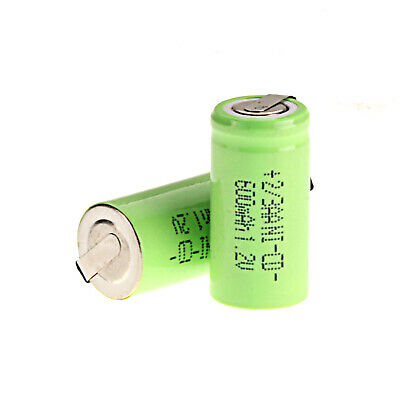 2/3 AA 600mAh NI-CD Battery 1.2V Rechargeable Lead Batteries