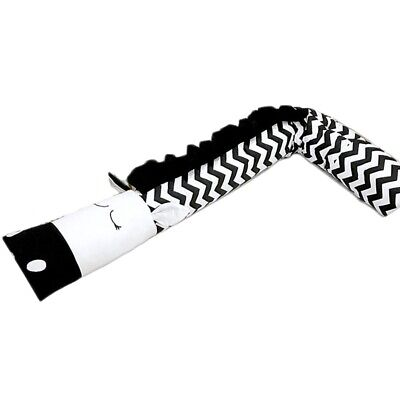 Black And White Zebra-Shaped Children'S Bed Crib Guardrail Bumper Pillow An D6E2
