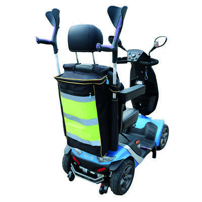 Mobility Scooter Bag - High visibility bag that holds walking sticks or crutches
