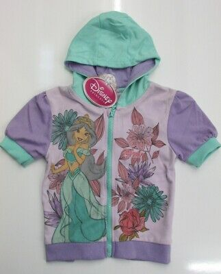 DISNEY Princess Girls Pink Graphic Short Sleeve Hooded Sweater 5-6 Years BNWT