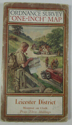 1936 OS Ordnance Survey One-Inch Special Popular Edition Map Leicester District