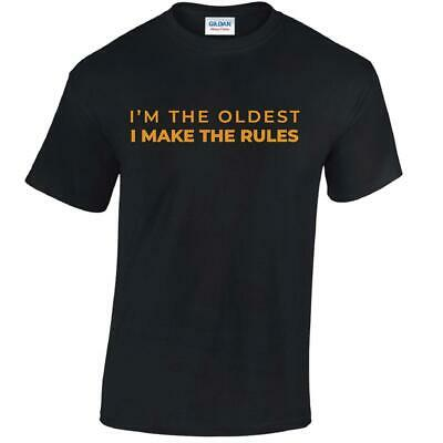 Rules Oldest Youngest Mens Women Tshirt Sibling FUNNY T-SHIRT Adult Matching TEE