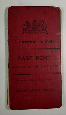 1899 Old OS Ordnance Survey Revised New Series One-Inch Map 273 274 &c East Kent