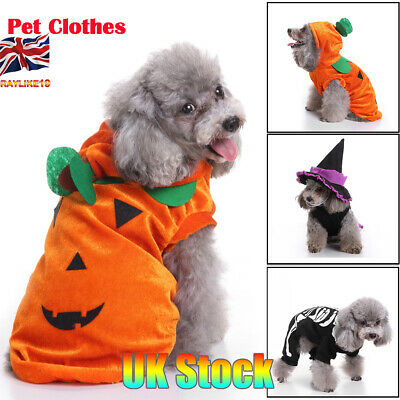 UK Pet Halloween Clothes Pet Costume Fashion Draping Pumpkin Pattern For Pet Dog