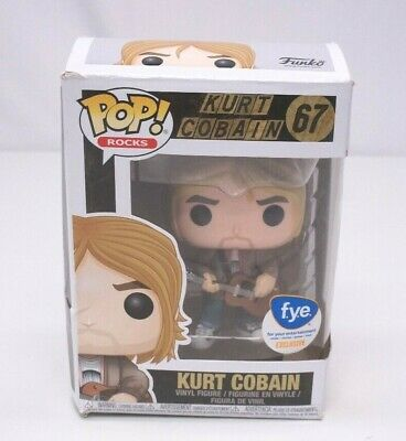 Funko Pop! Rocks Kurt Cobain #67 FYE Exclusive NEW Damaged Box