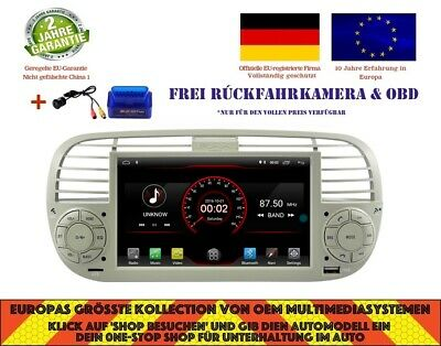 Autoradio Gps Dvd Navi Android 10.0 Bt Dab+ Wifi Carplay Fur Fiat 500 K6779W