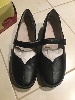 NEW Homy Ped Black Leather Shoes Size 11