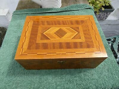 Antique Inlaid Marquetry Wooden Box..jewelery box etc..