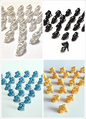 """100 Pairs 4 Mix color High Heel Shoes Boots For 11.5"""" Doll / Toy Girl Gifts A02"""