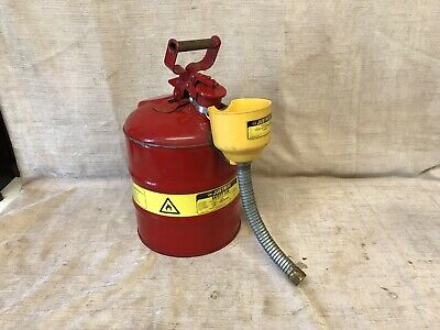 Justrite U.S.A. Safety Fuel Can 3.0 US Gallon Type 1 Jerry Petrol