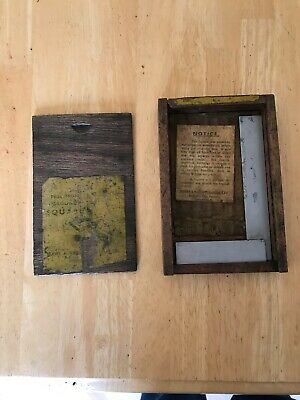 """Vintage Moore & Wright Engineers Square 4"""" in Original Wooden Box"""