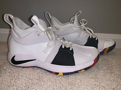 huge discount 7caef 1a23f NIKE PG 2 TS NCAA March Madness White Multi Color New 7.5 ...