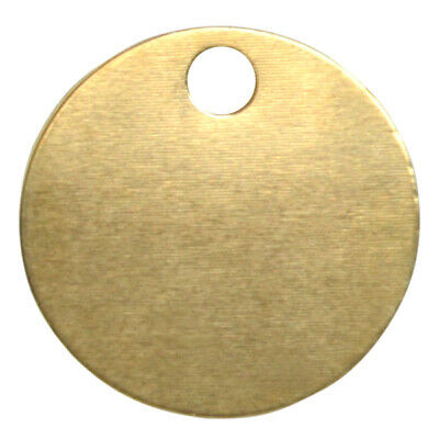 KEYS OF STEEL Pet Tag Discs - Polished Brass 32mm