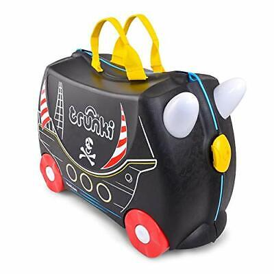 Trunki Original Kids Ride-On Suitcase and Carry-On Luggage - Pedro Pirate(Black)