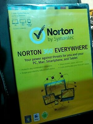 Norton 360 Everywhere 1 Year 5 Devices, GOOD CODE, NEW AND SEALED, FREE SHIPPING