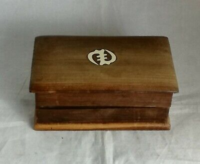 Beautiful Vintage Orential Small Wooden Storage Box