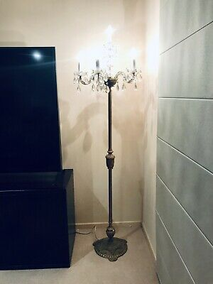 Antique Floor Lamp Brass Chandelier Light With 5 Arms Incredibly Rare Beautiful