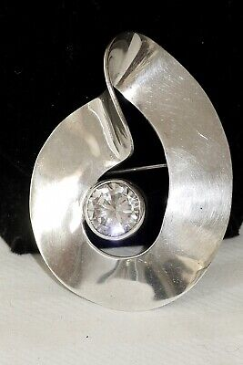 Vintage Sterling Silver Mexican Beautiful Large Pin/Brooch