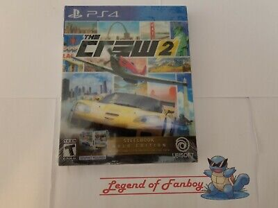 New *  The Crew 2 Steelbook Gold Edition - Sony PlayStation 4 ps4 w/ Season Pass