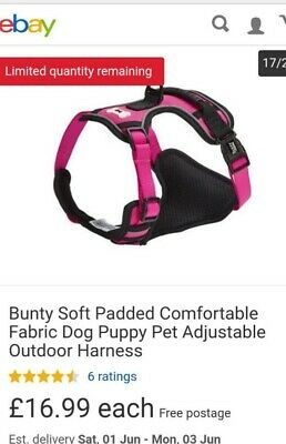 Bunty Soft Padded Comfortable Fabric Dog Puppy Pet Adjustable Outdoor Harness