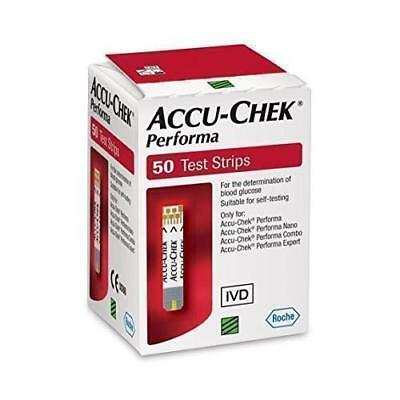 Accu-Chek Performa Glucometer Blood Glucose / Sugar Level Test # 50 test strips.