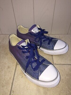 Kids Girls/ Boys 2 Tone CONVERSE ALL STAR Canvas Trainers Shoes Sz UK 2.5 NEW BN