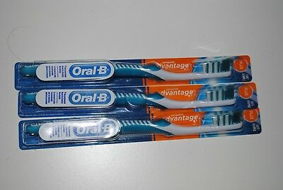 Lot Oral-B Advantage Complete Toothbrush Deep Clean Soft Souple (3) Manual