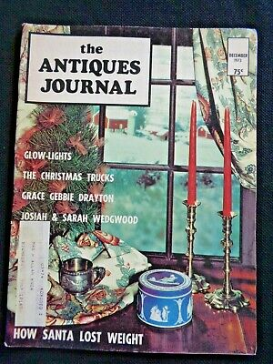 1973 Antiques Journal Robert Burns Ceramics Grace Gebbie Drayton Dolls Wedgwood
