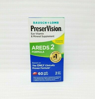 Bausch + Lomb PreserVision AREDS 2 Formula - 60 Soft Gels [EXP:01/2020]
