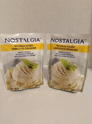 Nostalgia Vanilla Ice Cream Mix No Sugar Added Makes 2 quarts 2 Pack Each 4 Oz
