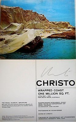 CHRISTO Fine HAND SIGNED Photo ART BOOK Wrapped Coast Australia MINT CONDITION