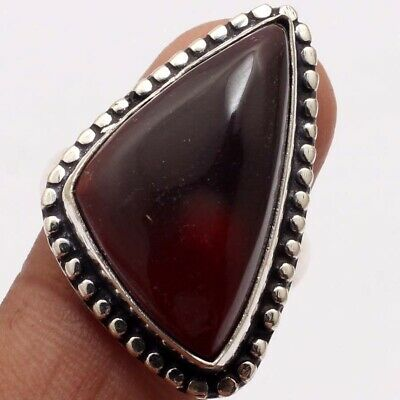 ZG5204 Mookaite & 925 Silver Plated Handmade Ring US 7