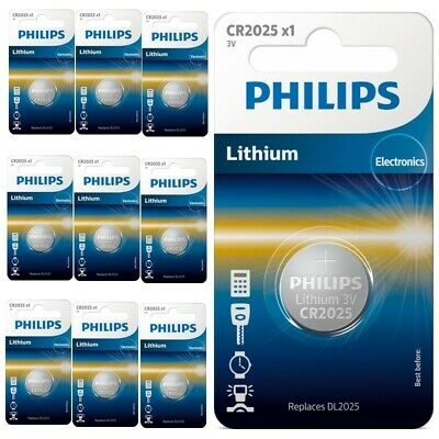 UK BS025-10x Philips CR2025 3v lithium button cell battery 10 Pieces