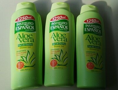 Instituto Espanol Shower Gel Aloe Vera 1250ML X 3  UK STOCK