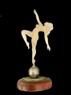 art deco dancing nude chrome figure